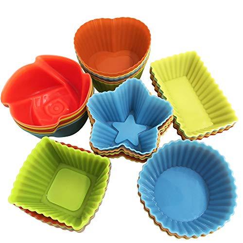 YuCool Molde de silicona para cupcakes, reutilizable, antiad
