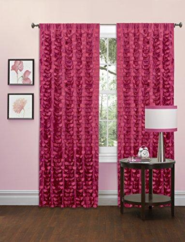 Lush Decor Gigi Single Window Curtain Panel, 84' x 50', Pink