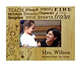 Personalized Teachers Day Gift Wood Engraved Picture Frame Customizable Gift -4 x 6 Inches Horizontal