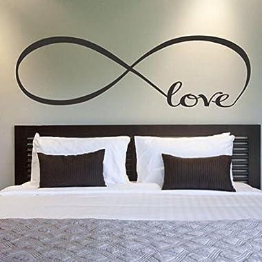 Picniva Wall Stickers, Franterd Bedroom Decor Infinity Symbol Word Love Vinyl Art Decal