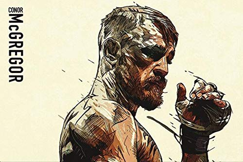 WOAIC Conor Mcgregor Fan Art Pósteres For Bar Cafe Home Decor Painting Wall Sticker Frameless 24X36 Inch(60X90CM)