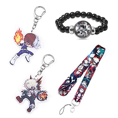 My Hero Academia Anime Lanyard ID Badge Holders with My Hero Academia Keychain My Hero Academia Bracelet