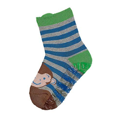 Sterntaler Söckchen, Fliesen Flitzer Air, Affen-Motiv, Alter: 6-12 Monate, Schuhgröße: 17-18, Silber