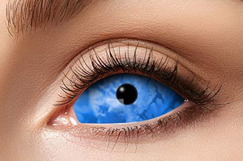 Eyecatcher 84091541.s22 - Farbige Sclera Kontaktlinsen, 1 Paar, für 6 Monate, Blau, Karneval, Fasching, Halloween