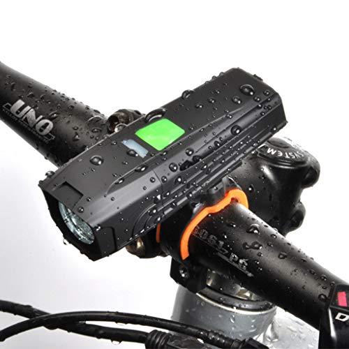 Fiets Lamp Voorlicht 400 Lumen, USB Oplaadbare Waterdichte Bike Koplampen LED Met 5 modi, Super Heldere NachtFietsen Apparatuur