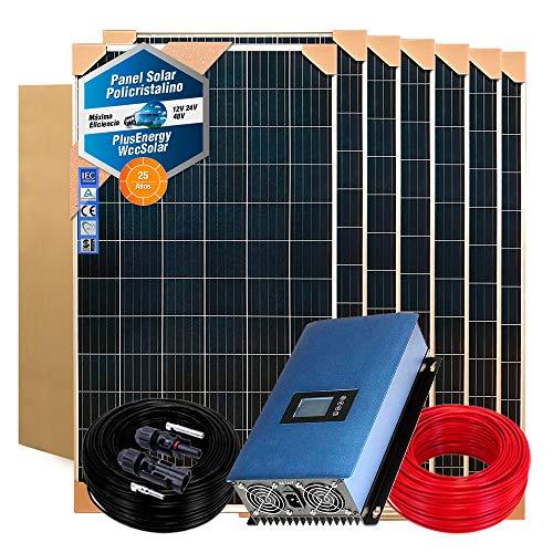 Kit Solar Autoconsumo Inyección a Red 1.000W / 5.000W Día + Inversor Vertido Cero