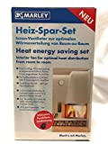 Marley Heiz-Spar-Set Lüfter Heizlüfter Wärmerückgewinnung Fernbedienung Ventilator Wärmetauscher