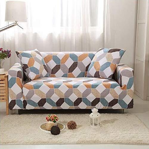 Xin Hai Yuan Stretch Plaid Sofa Schonbezug Elastische Sofabezüge Für Wohnzimmer Funda Sofa Stuhl Couchbezug Wohnkultur 1/2/3/4-Sitzer,F,2 Seater
