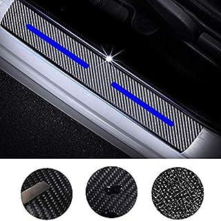 Maite 4Pcs Carbon Fiber Car Door Sill Scuff Guard Anti-kick Scratch Door Protector for