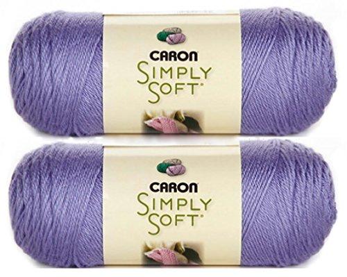 Bulk Buy: Caron Simply Soft Yarn Solids (2-pack) (Lavender Blue)