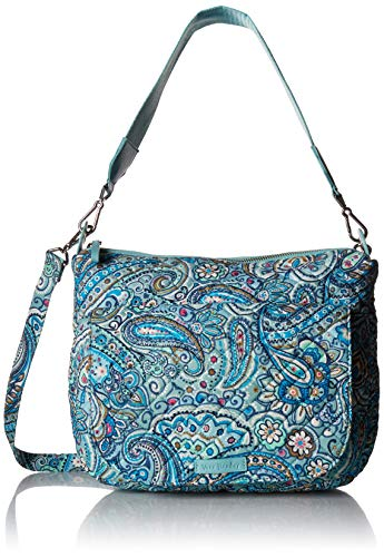 Vera Bradley Signature Cotton Carson Shoulder Bag Crossbody Purse, Daisy Dot Paisley