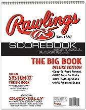 Baseball/Softball Scorebook Big Book with Pitch Count Log (Little League, ASA, Travel Ball, Babe Ruth, High School)
