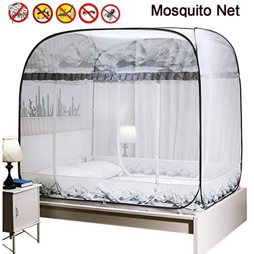 JZH-Light Muggennet Opvouwbare Draagbare Pop Up Tent Mesh Luifel Gordijnen met Bodem Zorg ervoor dat de luchtstroom Pop Up Tent Gordijnen voor binnen en buiten gebruik Repels Insecten dragen Malaria & Ziekten