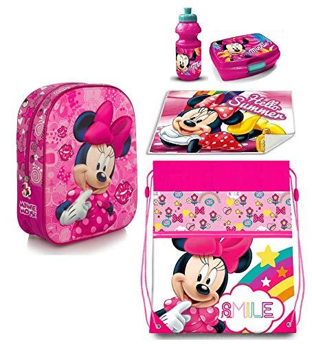 Minnie Disney Dotty in 3D Zainetto Zaino,Sacca Sport ,Porta Merenda Scuola Asilo Tempo Libero