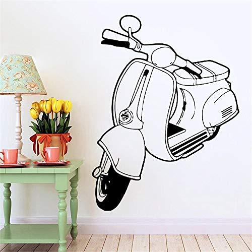 Ciclomotor Scooter Bicicleta Motocicleta Auto Dibujos animados Bicicleta eléctrica Etiqueta de la pared Vinilo Arte Calcomanía Niño Niños Guardería Dormitorio Sala de estar Club Decoración par