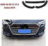 HYNB Kit de carrocería de alerón difusor de Labio Delantero Delantero Negro Mate de 3 Piezas para Ford Fusion Mondeo 2013-2018