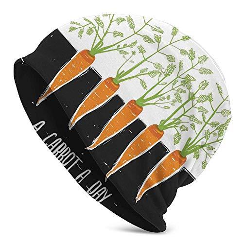 Mamihong Bonnet Unisexe en Tricot tête de Mort, Racines de Carotte, Croissance des Plantes à literie, Ferme écologie Alimentaire, thème et Citation