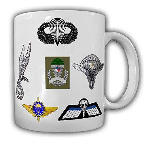 Tasse Fallschirmspringerabzeichen Fallschirm Sprung Flugzeug Paragleiter #26606