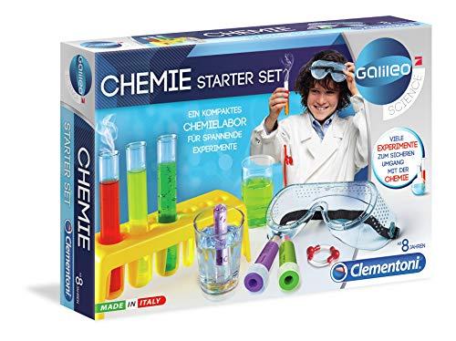 Clementoni 69175 Galileo Science – Chemie Starter-Set, farbenfroher Experimentierkasten mit Experimenten für Zuhause, Spielzeug für Kinder ab 8 Jahren, abwechslungsreiche Versuche