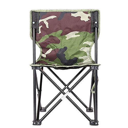 no brand ARONGBC Mini-Tabouret Pliant Portable, Camping Pliant Tabouret, Chaise Pliante extérieur for Barbecue, Camping, pêche, Voyage, Randonnée, Jardin, Plage, OXF (Color : Camouflage)