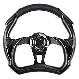 EZGO Steering Wheel Fit Club Car EZGO Yamaha Universal Golf Cart Steering Wheel Club Car DS and Precedent Cool Racing Style Steering Wheel (Black)