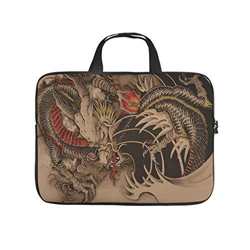 Funda protectora para portátil con diseño de dragón japonés, resistente a los arañazos