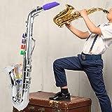 【𝐎𝐟𝐞𝐫𝐭𝐚𝐬 𝐝𝐞 𝐁𝐥𝐚𝐜𝐤 𝐅𝐫𝐢𝐝𝐚𝒚】Modelo de saxofón Instrumento musical para niños Saxofón infantil, Saxofón, Decoración de regalo de cumpleaños para niños Adorno Entusiasta(Silver)