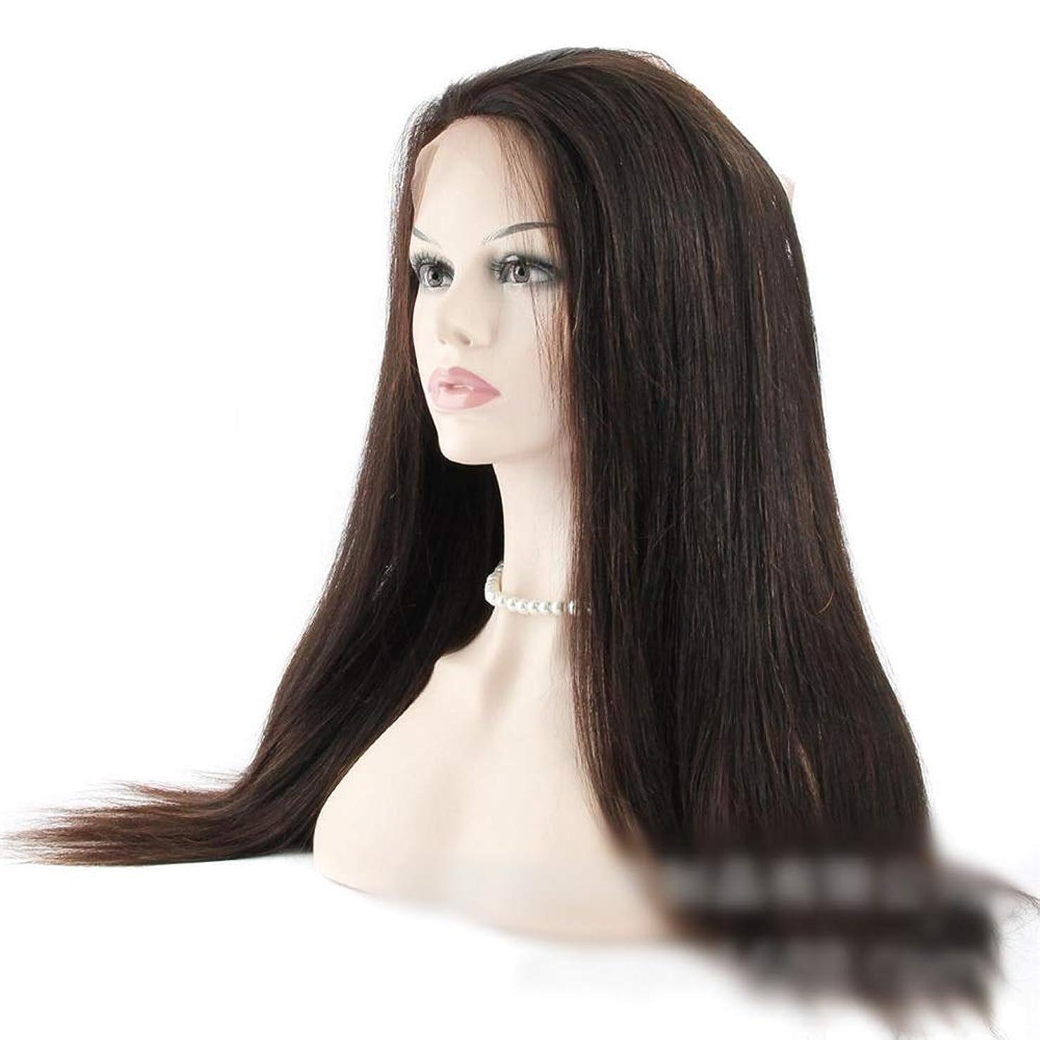 製油所作成するマルクス主義JULYTER 360レース前頭閉鎖ブラジル人間の髪の毛の広場ナチュラルブラックカラー(14インチ-20インチ) (色 : 黒, サイズ : 18 inch)