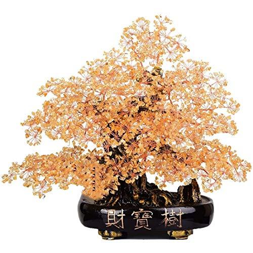 ZHANG Piedra Preciosa árbol Bonsái árbol De Cristal Citrino árbol De La Suerte Decoración árbol De Dinero De La Fortuna Entrada para Sala De Estar