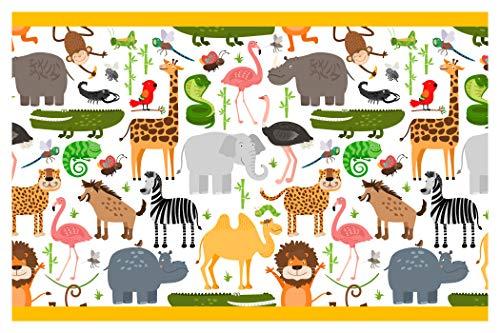 dekodino Kinderzimmer Bordüre Borte Safari Afrika Tiere Kinder selbstklebend