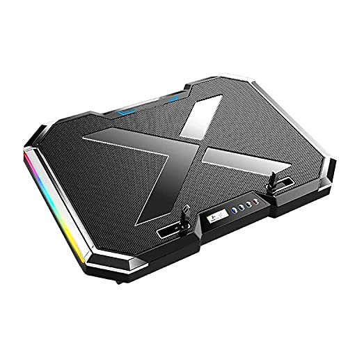 """Laptop Cooling Pad RGB Gaming Laptop Cooling Pad Cooling Pad for Laptop RGB Lighting Laptop Cooler Fan Slim Portable USB Powered (6 Fans),Compatible with Up to 17"""""""