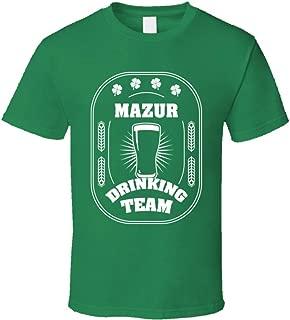 SHAMBLES TEES Mazur Drinking Team St. Patrick's Day Last Name Group T Shirt