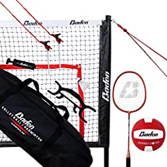 Quick & easy setup - adjustable steel poles allow easy set-up and seamless transition between game types Built tough - this high-quality, long-lasting set will endure the elements. And its heavy duty powder coated steel poles, waterproof edges, and d...