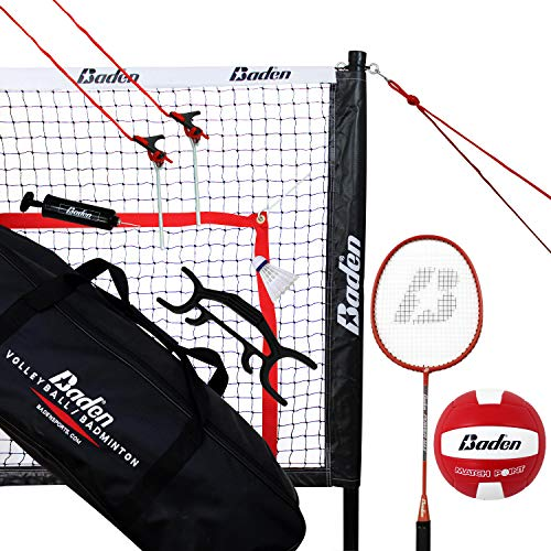 Baden Champions Volleyball Badminton Combo Set, Red, Model:G202-00