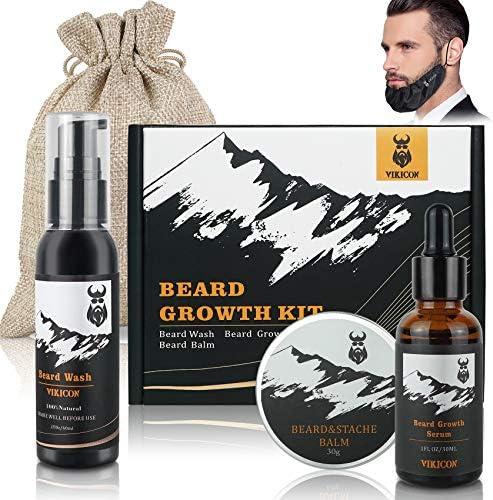 Beard Growth Kit VIKICON Beard Growth Gift Kit with Beard Guard Beard Wash Beard Growth Oil product image