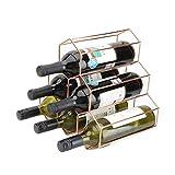 Portavini 6 Bottiglia Di Vino Vino Rack Cremagliera Controsoffitto Repository Moderna Del Vino Del Metallo Cremagliera Del Vino Cremagliera E Vino Vino Rack Cremagliera Desktop Adatto Per Ristorante C