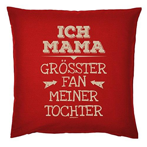 Art & Détail T-shirt Coussin : Maman Mom Fête des Mères – Je maman le plus grand fan Ma fille – Comme Présent