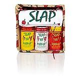 Slap Ya Mama Petite Pepper Gift Basket Includes Original Seasoning 8 Ounce Can, White Pepper Blend 8 Ounce Can, Hot Blend 8 Ounce Can, Large Apron