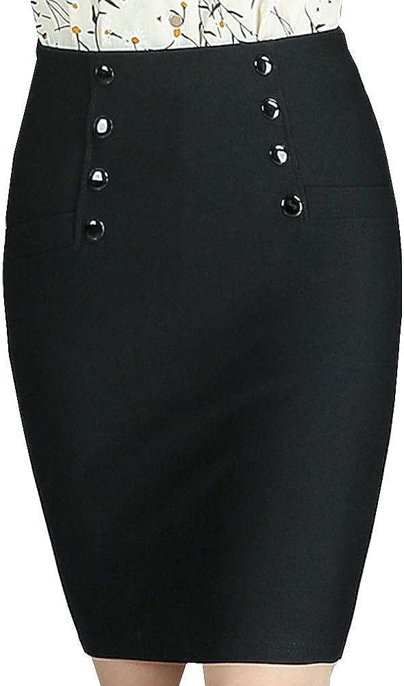 DISSA CD1124 Women Hight Waist Mini Pencil Skirt