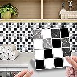 24 unidades de 20 x 20 cm de vinilo adhesivo de pared, impermeable, PVC,...