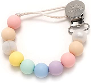 Loulou LOLLIPOP - Lolli - Best Silicone Pacifier Clip and Holder – Cotton Candy