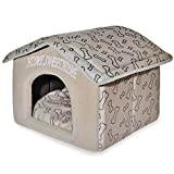 Best Pet Supplies, Inc., Inc., Inc., Portable Indoor Pet House – Perfect for Cats & Small Dogs, Easy To Assemble – Brown (HH117)