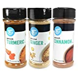 Amazon Brand - Happy Belly Wellness Spices Set: Turmeric, Ginger, Cinnamon