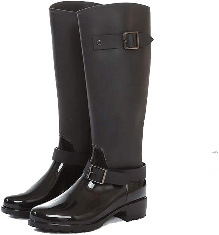 CHENSF Women Rain Boots Snow Boots Womens Fashion Waterproof Knee High Boots