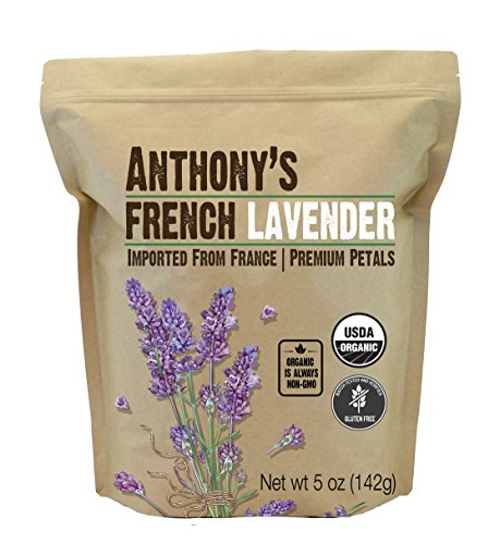 Anthony's Organic French Lavender Petals, 5 oz, Extra Grade, Dried, Gluten Free & Non GMO
