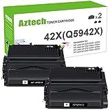 Aztech Compatible Toner Cartridge Replacement for HP 42X Q5942X Q1338A for HP Laserjet 4250 4200 4350 4300 4250N HP 4350N 4250TN 4250DTN 4350DTN 4350TN Toner (Black, 2-Pack)