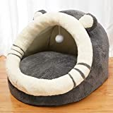 WANK Pet Tent Soft Cave Bed for Dogs and Small Cats Super Soft Self-Warming Dog House Machine Washable Anti-Slip Cat Beds