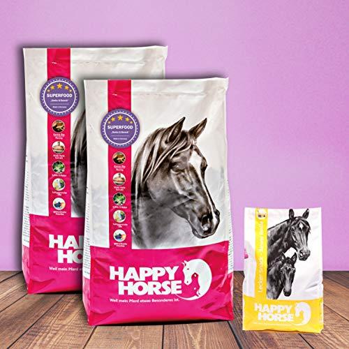 Happy Horse Superfood Senior & Barock 2 x 14 kg + 1 kg Lecker Snack Banane Vanille gratis
