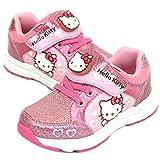 [ハローキティ] [サンリオ] Hello Kitty 子供靴 女の子 ライトアップ スニーカー シューズ ぴかぴか光る 靴 (19.0 cm, ハート) [並行輸入品]