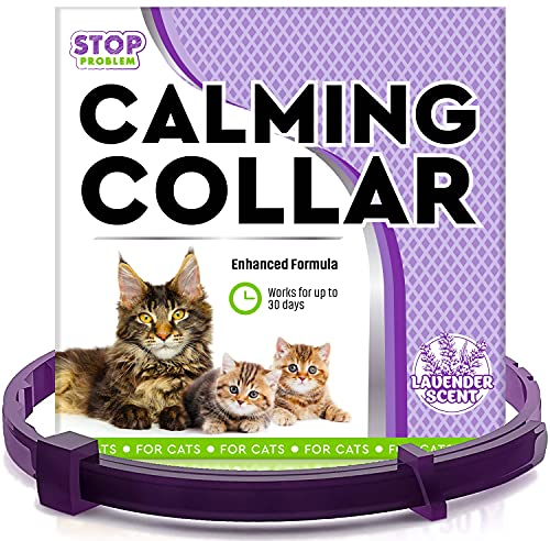 Beloved Pets Pheromone Calming Collar for Cats and Small Dogs with Long-Lasting Effect - Enhanced...